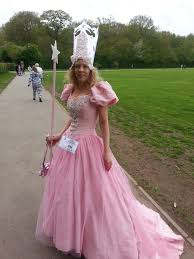 glinda the good witch home made from an old wedding dress and