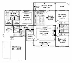 Elevation Symbol On Floor Plan Southern Style House Plan 3 Beds 2 5 Baths 2000 Sq Ft Plan 21