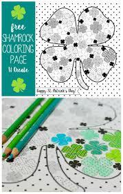 full of shamrocks coloring page u create