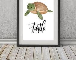 Sea Turtle Home Decor Sea Turtle Print Etsy