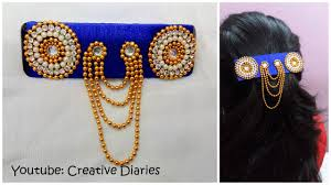 how to make designer silk thread hair clip from an ordinary clip i