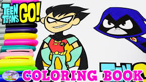 teen titans go coloring book robin raven episode show surprise egg