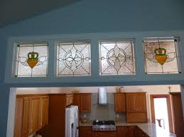 Transom Window Above Door Four Decorative Transom Windows Above A Set Of French Doors