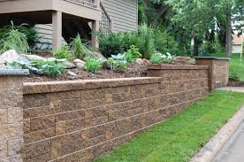 Block Retaining Walls Hold Soil Or Backfill And Help Prevent The - Landscape wall design