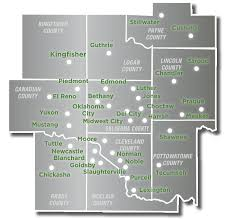 Oklahoma City Map Greater Oklahoma City Economic Development Local Map