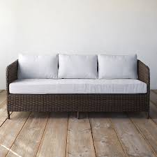 Low Back Sofa by Low Back All Weather Wicker Three Seat Sofa Terrain