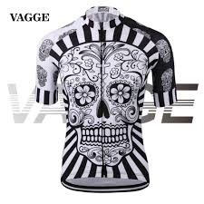best thermal cycling jacket vagge skull sublimation printing cycling jersey wear best 2017 pro