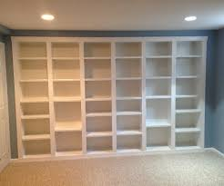 built in bookcases 5 steps