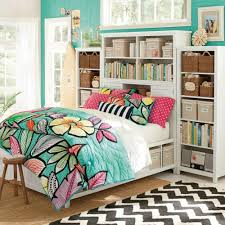 Zig Zag Area Rug Bedroom White Bed Storage With Headboard Bookshelves And