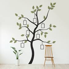 tree wall decal organic giant family tree wall decal tree wall pics photos family tree wall decal photo frame tree decal stickers