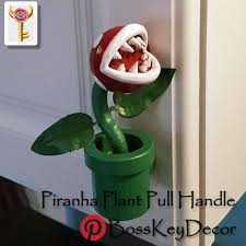 Super Mario Home Decor by Piranha Plant Pull Handle Super Mario Bros Nintendo Home Decor