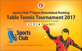Table Tennis Tournament by 1st Open Ahmedabad Ranking Table Tennis Tournament 2017 U2013 Table