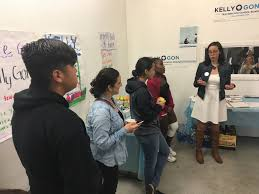 audio how to campaign in a wide open low turnout la unified l a school board candidate kelly gonez left addresses campaign volunteers before a day of