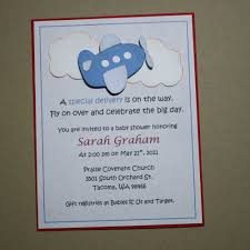 template airplane baby shower invitations