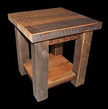 Diy Simple End Table by Rustic End Table Very Simple 4x4 Posts With The 2 Inch Top