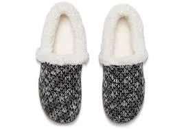 black sparkle knit women u0027s house slippers toms