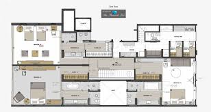 Penthouse Floor Plans Entrance Floor Plan U2013 Casa Urca Penthouse U2013 Rio De Janeiro Brazil