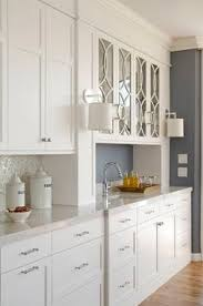 Elegant Kitchen Kitchens Blue Ceilings And Glass Doors - Kitchen cabinet with glass doors
