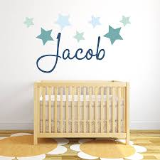 star name fabric wall stickers by littleprints star name fabric wall stickers