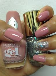 la colors gel polish in the color mademoiselle cute nail
