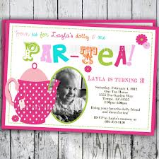 tea party birthday invitation tea party birthday invite