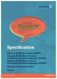 Edexcel GCSE German      specification