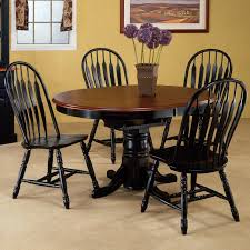black round dining room table with leaf of large kitchen sets
