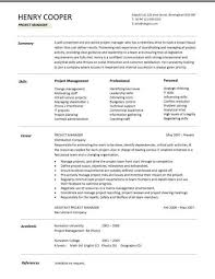 Project manager CV template  construction project management  jobs     Dayjob
