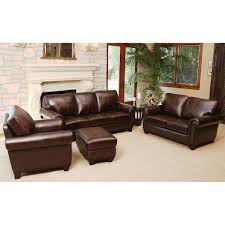 living set amberlyn 4 piece top grain leather living room set