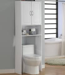 Space Saving Bathroom Furniture Stainless Steel Three Shelves Over The Toilet Storage Rack Without