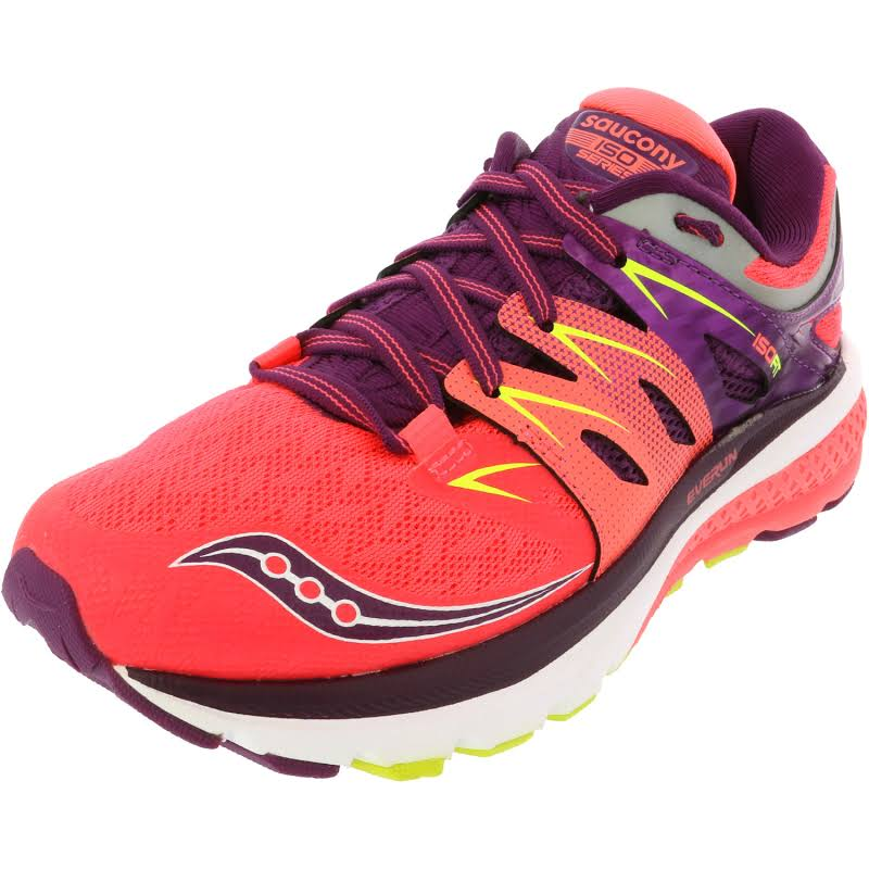 Saucony Zealot Iso 2 Coral / Purple Cotton Ankle-High Running 6.5M