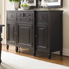 furniture dark sideboard buffet with five drawers and simple