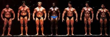 The lineup. All these men are on serious anabolic steroids