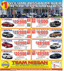 nissan finance used car rates weekend ad team nissan dealership