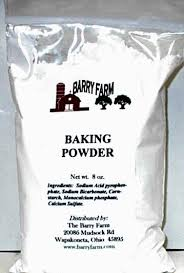 Baking powder, double-acting, straight phosphate