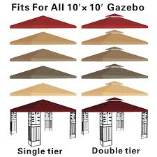 Replacement Canopy Covers by Gazebo Canopy Material Photo Gallery Backyard