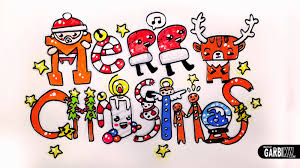 how to draw christmas stuff easy and kawaii drawings by garbi kw