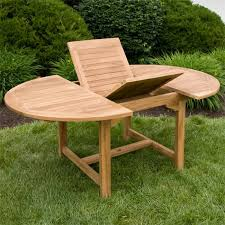 Expandable Table Teak Outdoor Expandable Round Table Set Outdoor