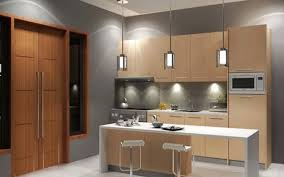 Kitchen Cabinets Long Island by Wood Glass Floating Kitchen Cabinets Over Dark Grey Countertop