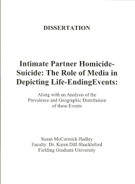 Intimate Partner Homicide Suicide  The Role of Media in Depicting Life Ending Events Center for Homicide Research