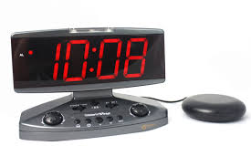 wake up call combination phone clock and bed shaker
