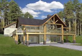 the pocono 2 open floor plan chalet with large deck master and