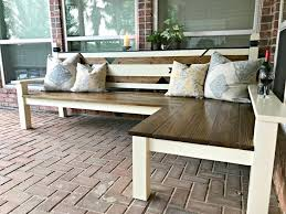Build Wood Garden Bench by L Shaped Diy Backyard Bench Just 130 Abbotts At Home