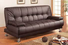 Leather Sofa Chaise by Amazon Com Coaster Futon Sofa Bed With Removable Arm Rests Brown