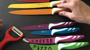 Colorful Kitchen Knives Imperial Kitchen Collection Colorful Knife Set Stainless Steel