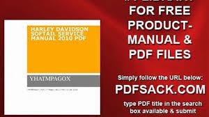 100 harley davidson 2010 softail repair manual download