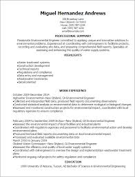 Civil Engineering Resume Samples by Professional Environmental Engineer Resume Templates To Showcase