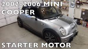 mini cooper replace starter r53 r50 r52 2002 2006 youtube