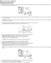 mitsubishi ch lancer 2004 2 0lhow to change trasmission fluid