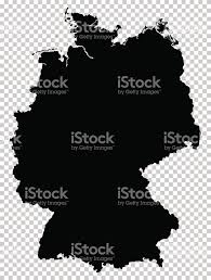 Detailed Map Of Germany by Black Detailed Map Of Federal Republic Of Germany Isolated On